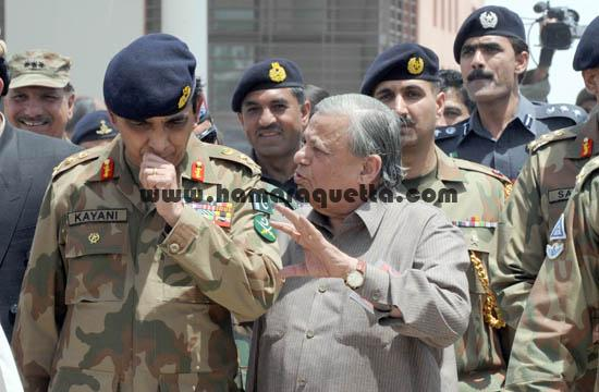 Editor in Chief Balochistan Times Syed Fasih Iqbal with Chief of army Staff General Ashfaq Parvez
