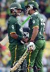 Mohammad Hafeez and Nasir Jamshed were involved in a 76-run stand