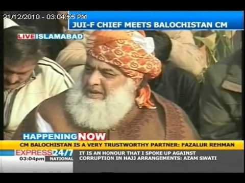 Fazlur Rehman meets with Nawab Aslam Raisani