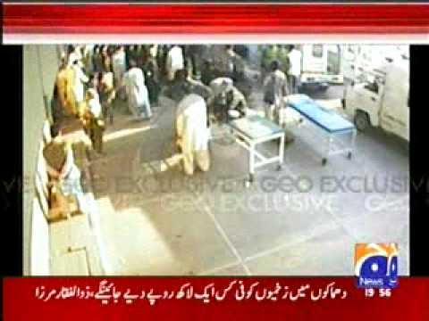 Karachi Attack on Jinnah Hospital CCTV Footage on 05-02-10