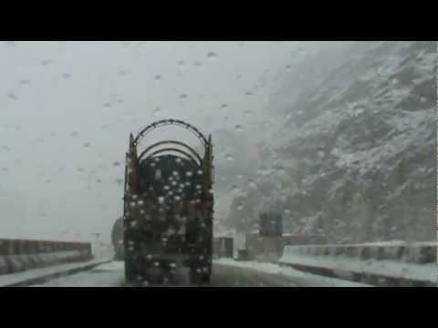 Quetta Snowfall 22/01/2012 - Crossing Mach Bolan