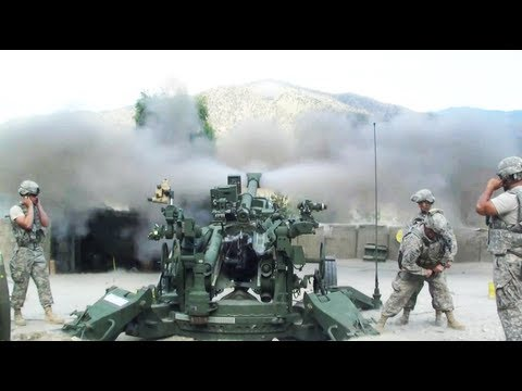 M777 Artillery Engages Taliban With Direct Fire